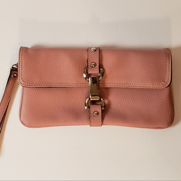 Fashion Express Handbags - Fashion Express Rose Pink Wristlet Clutch